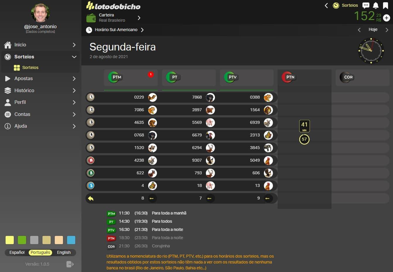 Banca online do Jogo do Bicho